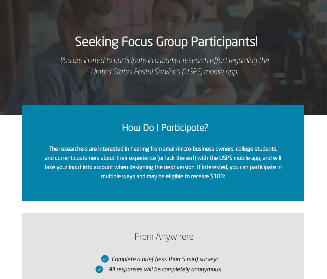 Seeking Focus Group Participants!